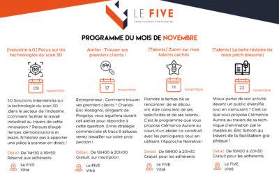 [Novembre] Le programme du mois de novembre est en ligne !